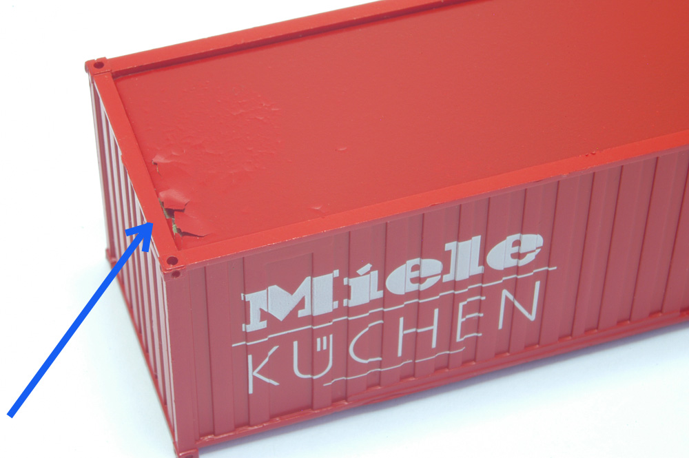 roco h0 47924 rungenwagen db 20 fuss container miele k chen neu ebay. Black Bedroom Furniture Sets. Home Design Ideas